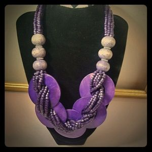 Chunky Statement Abalone Shell Necklace